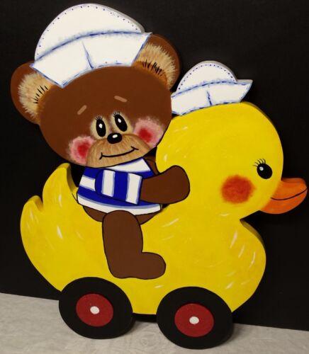 Nursery / Playroom Wall Decor. - Teddy Bear, Duck - Sailors Hats REALLY CUTE!