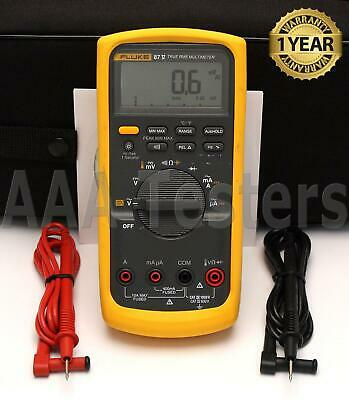 Fluke 87 V True Rms Industrial Dmm Digital Multimeter W Temperature 87v 87-v