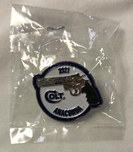 2021 Colt Anaconda 44 Magnum Pin Button Silver Blue