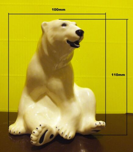 Porcelain Figurine Polar Bear from RUSSIA.