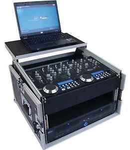 Laptop-Kombicase 6/8HE Nootebook-Winkelrack L-Rack mit Laptopständer DJ-Rack NEU