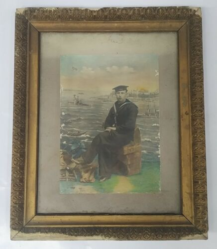 WWI Occupation of Constantinople British Sailor Photo 1918-1923 Hand-colored