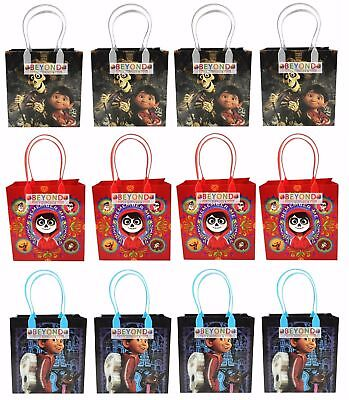 12 Pcs COCO Day of the dead Movie Birthday Party Favor Goodie Gift candy Bags](Day Of The Dead Birthday)