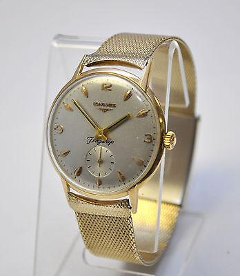 50's Mens Longines Flagship 18K Gold Cal. 30L. Fabulous Hand-wind Watch