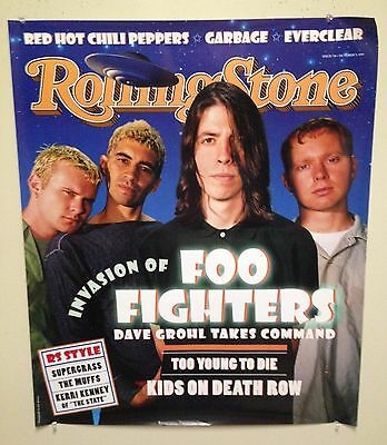 """FOO FIGHTERS - """"Rolling Stone"""" 1995 poster (25x30) - NEW/UNUSED"""