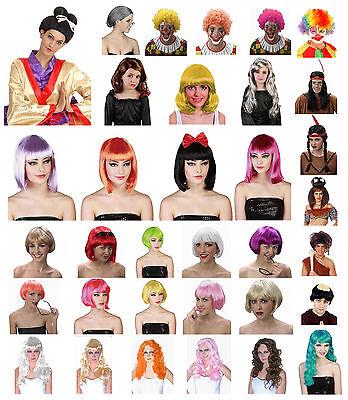 Kostüm Herren Damen Mädchen Perücken Afro Clown Geisha Bob Meerjungfrau