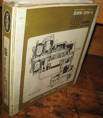 Twin Disc Power Shift Transmission Parts Maintenance Service Manual Wbinder