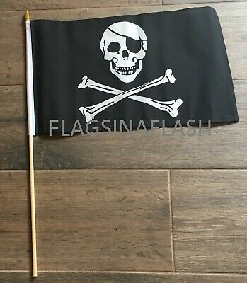 jolly roger pirate skull crossbones flag mini