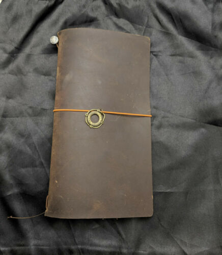 Brown Original Midori Travelers Notebook Used Condition Regular Size Old Stamp