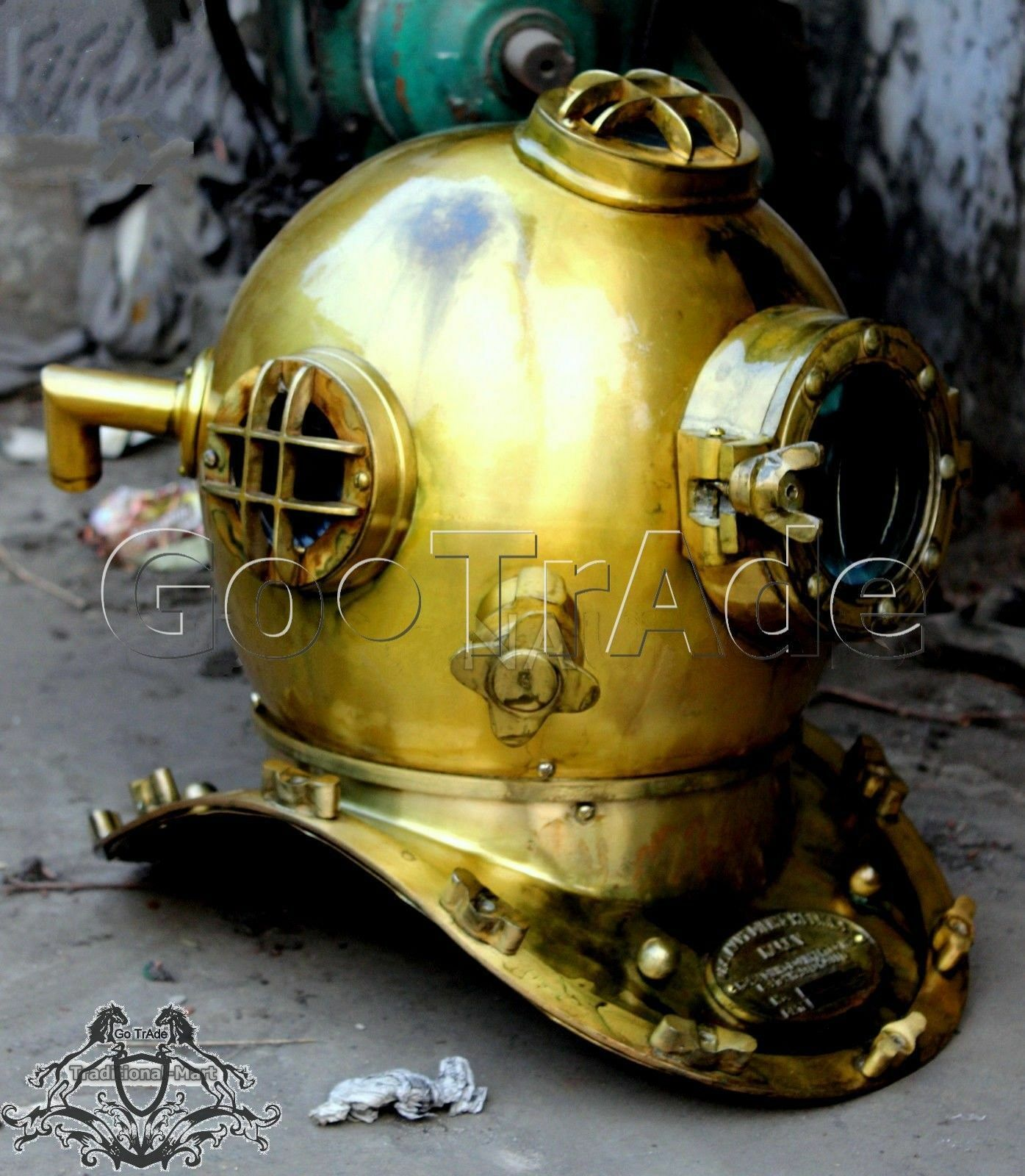 Antique GIFT US Navy Vintage Dive Helmet Mark V Antique Diving Divers Helmet