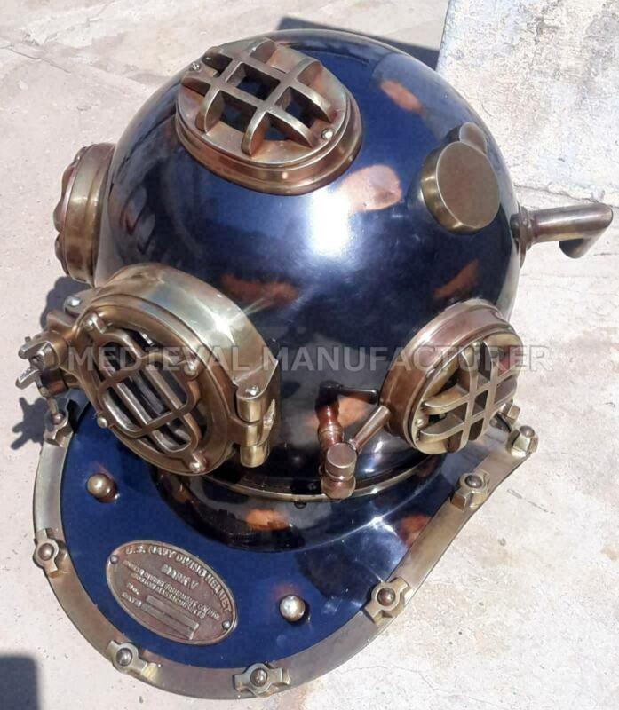 "Antique 18/"" Diving vintage BOSTON MARK V U.S Navy Deep Sea Divers Helmet Replica"