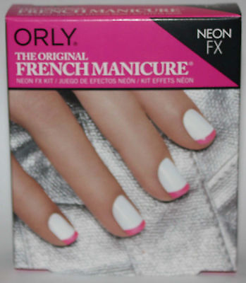 Orly French Manicure Kit Neon Fx Set For Nails Pink & White