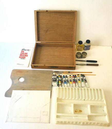 Sargent Hi-Test Tube Oil Colors Paint Wooden Artist Painters Box Jointed