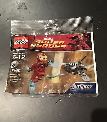 LEGO 30167 Marvel Super Heroes Iron Man vs Fighting Drone Avengers Polybag New!