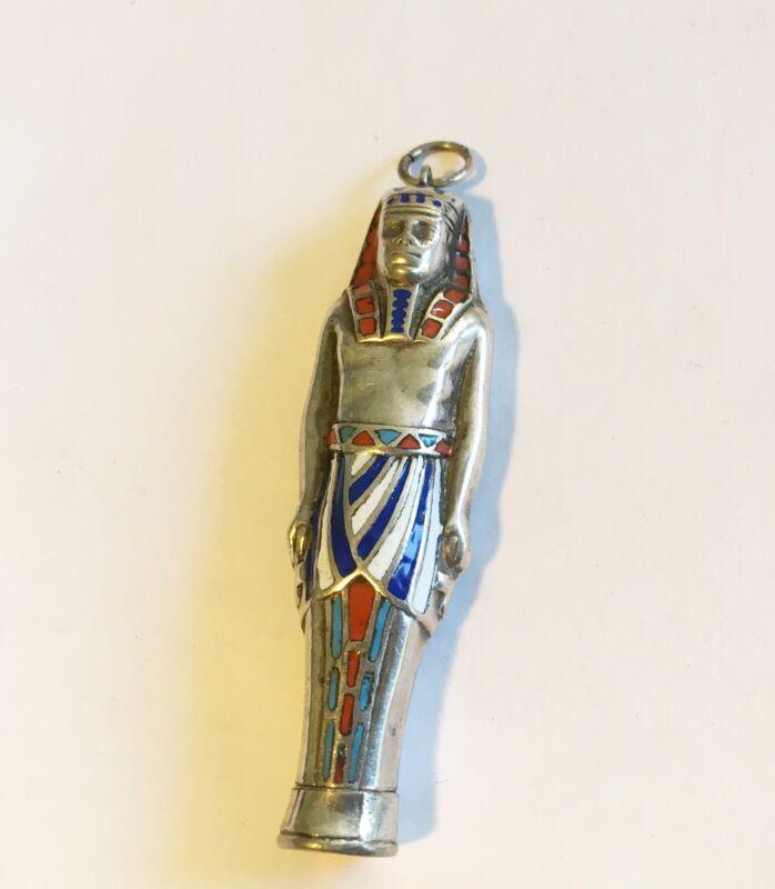 Antique Silver Egyptian Revival Drop/Pendant??? Enamel Piece