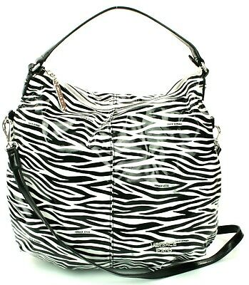 Versace PVC Beach Bag Black White Zebra Print Handbag Medium RRP £147
