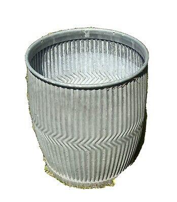 Vintage Original Galvanised Steel The Popula Tub