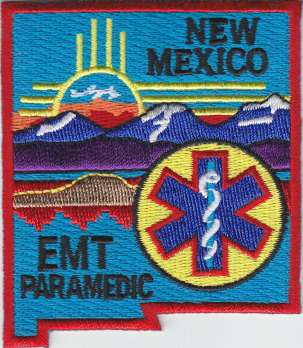 New Mexico EMT PARAMEDIC shoulder patch NM state shaped emergency medical