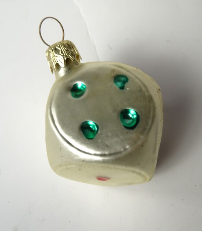 Vintage Single Die Glass Christmas Ornament