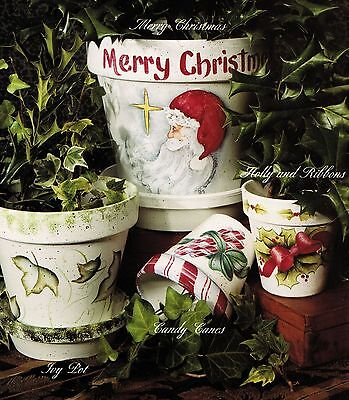 Tole Decorative Painting The Painted Clay Flower Pot Xmas Halloween Easter Book