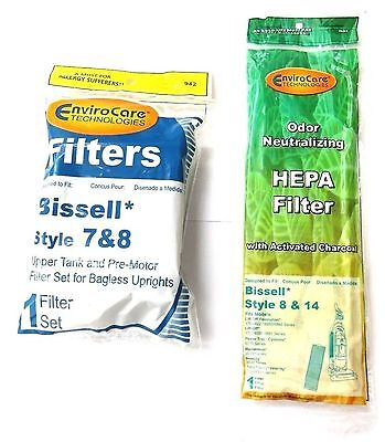 Bissell Vacuum style 7/8/14 Foam Filter Kit 3093 & 8/14 Pleated 3910 Filter
