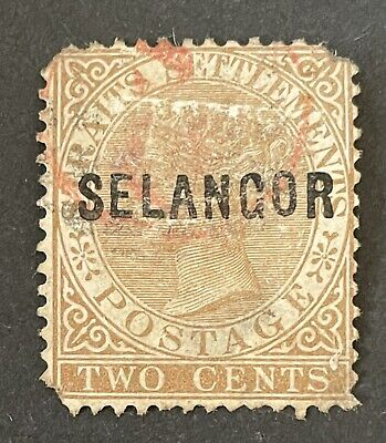 Malaysia States Selangor 1881-82. 2c Brown Stamp (used)