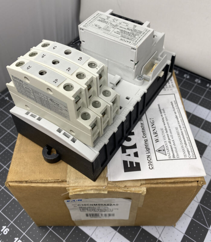 EATON C30CNM50A02A0 C30CN Electrically/Mechanically Held Lighting Contactor