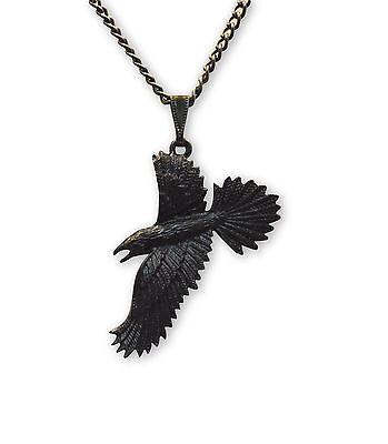 Black Raven Black Crow Gothic Pewter Pendant Necklace Nk 617