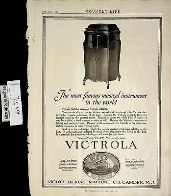 1919 Victrola Victor Talking Machine Musical Instrument Vintage Print Ad 6236
