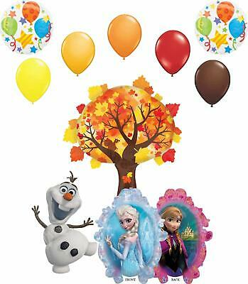 Party De Frozen (Frozen Enchanted Forest Party Supplies Elsa, Anna and Olaf Balloon Bouquet)