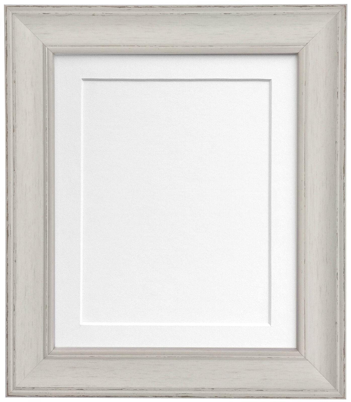Scandi Vintage Distressed Pale Grey Photo Picture frames & mount ...