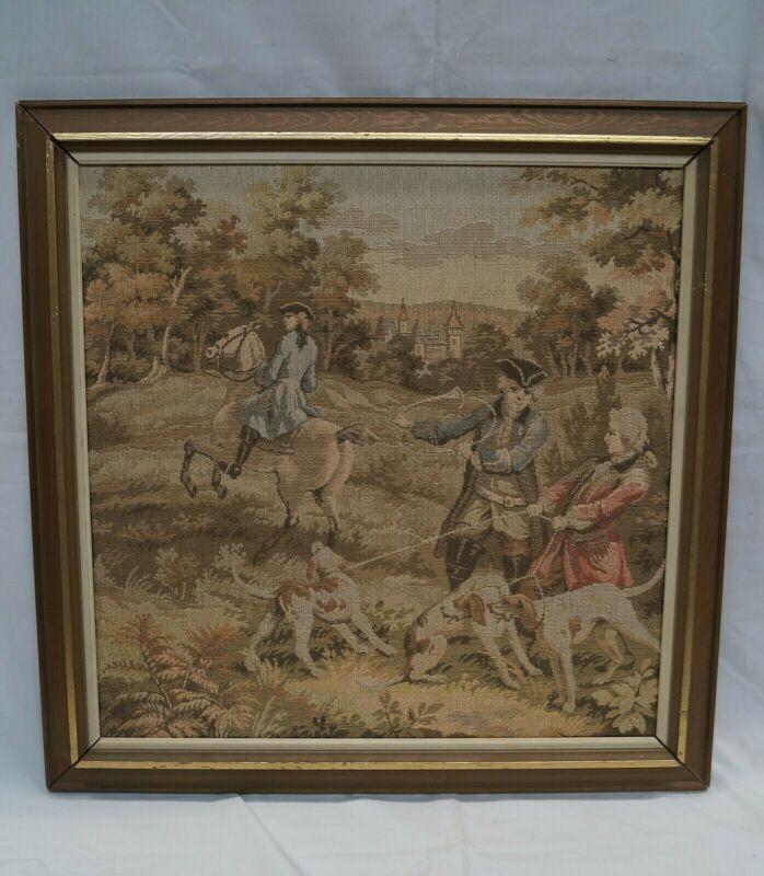 Regency Period British Framed Tapestry