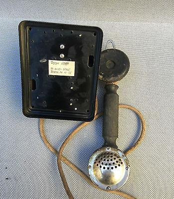 Ancien téléphone combiné sans touches deco loft indus french antique