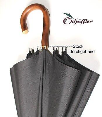 Stockschirm, 10-teilig, windstabil,durchgehender Stock, vom Schirmmacher Meister