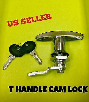 T Handle Latch Key Cam Lock Keyed Alike Locker Cupboard Cabinet 110.1.1.01.42