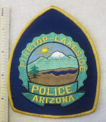 PINETOP - LAKESIDE ARIZONA POLICE PATCH 1980s Vintage ORIGINAL AZ