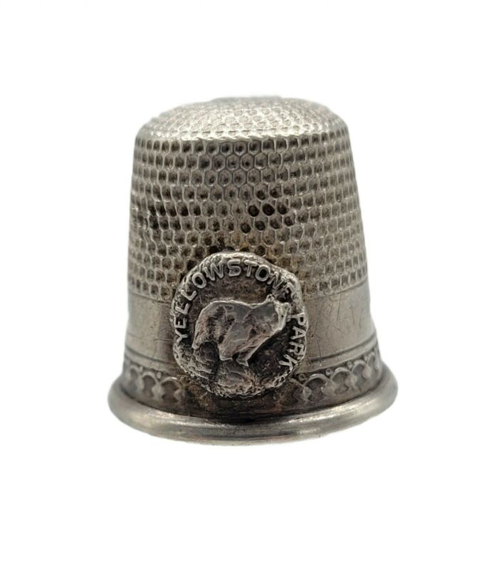 Antique Yellowstone Park Sterling Thimble Waite Thresher Co