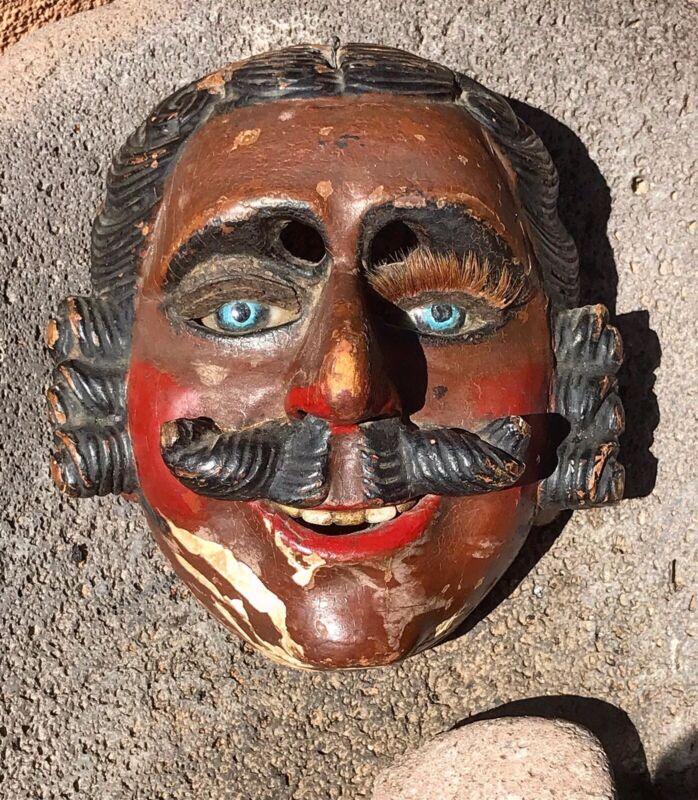 Antique Old Used Guatemalan Highland Mayan Dance Mask