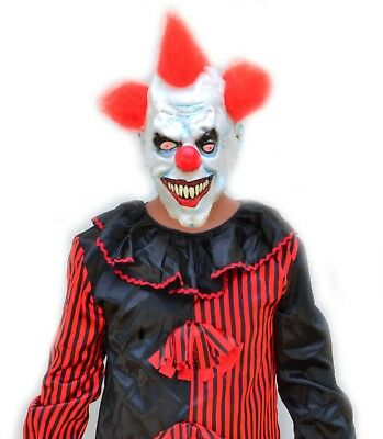 Adult Mens Red & Black Evil Killer Clown Halloween Costume & Mask RED HAIR CLOWN](Mens Evil Clown Halloween Costumes)
