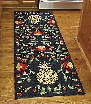 Welcoming Pineapple Hooked Rug Runner By Park Designs, 24...