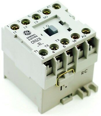 New Ge Miniature Din R.magnetic Contactor Cr6zbv 12vdc Coil Ca4-9-10-12d