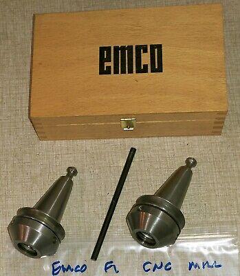 Emco F1 Pcmill 50 55 Cnc Mill Schaublin Er-25 Collet Set W Bt30 Chucks J15s