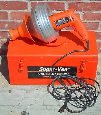 General Pipe Cleaners Super-vee Power Drain Cleaner Model 6355-gws No Ship