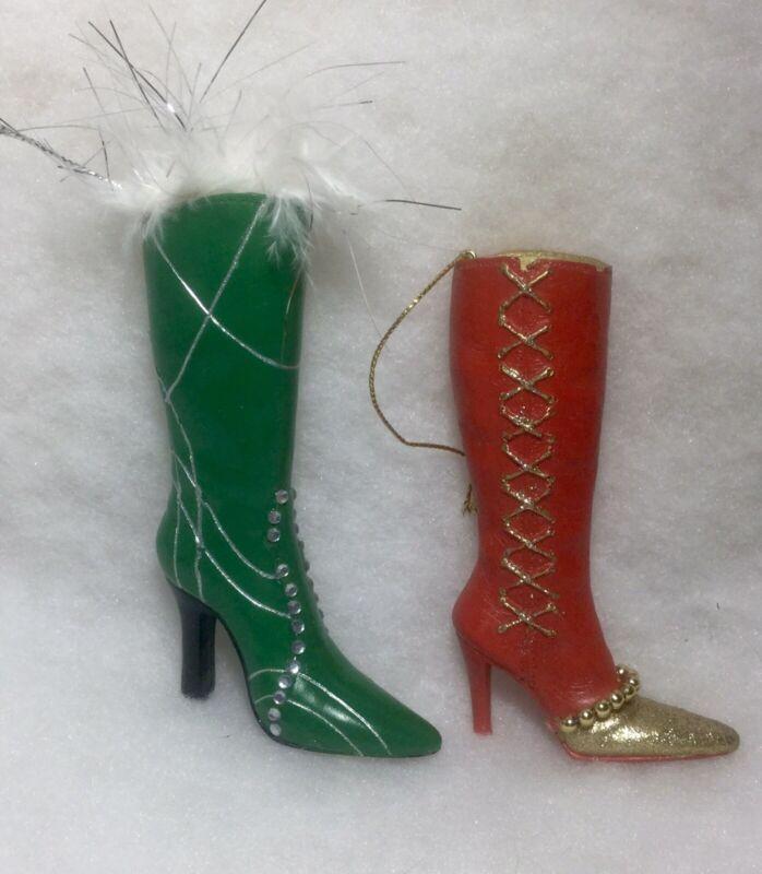 High Heel Boots / Shoes  Christmas Tree Ornaments Fashion, Rhinestones last ones