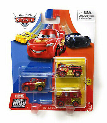 Disney Pixar Cars Mini Racers Rust-Eze Wraps Series 3 pack