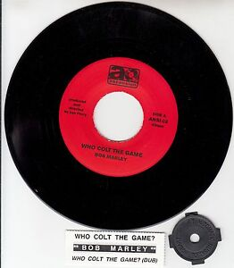 BOB-MARLEY-Who-Colt-The-Game-7-45-rpm-record-juke-box-title-strip-NEW-RARE