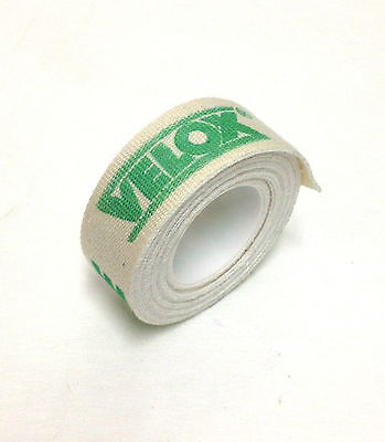 VELOX BICYCLE COTTON RIM STRIP WHEEL TAPE LINER ONE (1) ROLL 19mm NEW