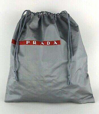 """Prada New Gray Storage Vinyl Dust Bag Drawstring 13.5""""x 14.5"""" Medium"""