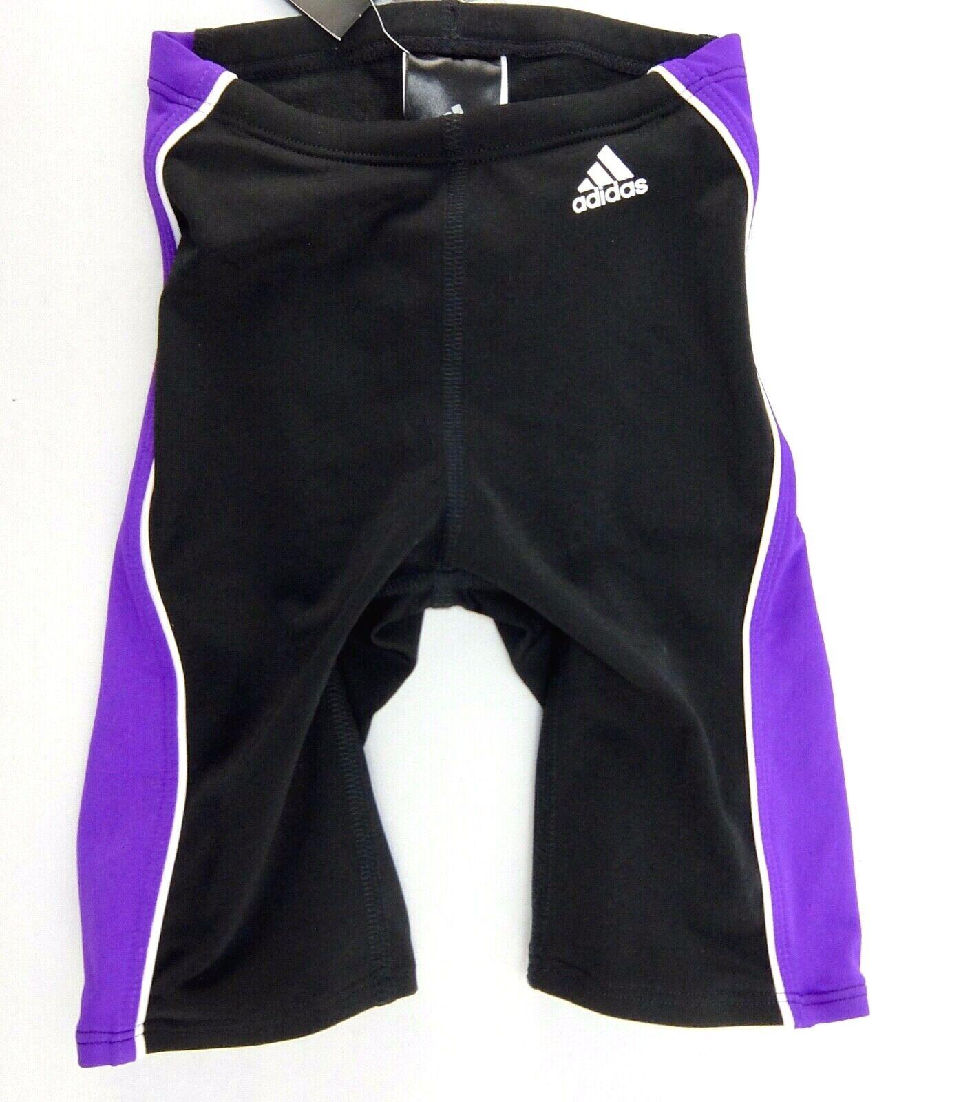 Adidas Boys Flex Splice Jammer Swim Suit Black Purple Polyes