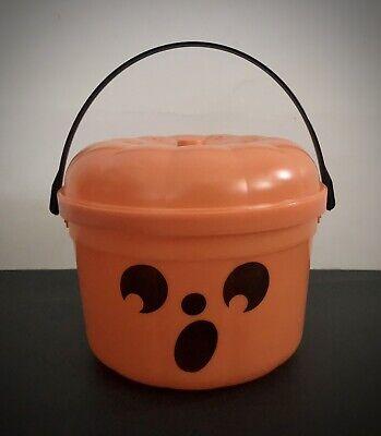 Vintage McDonalds McBoo Pumpkin Bucket Halloween Trick-or-Treat Candy Pail 1986